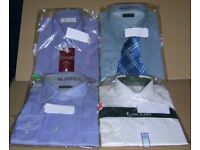 Four New Unused Formal Shirts : Burton / Marks & Spencer - One With Tie