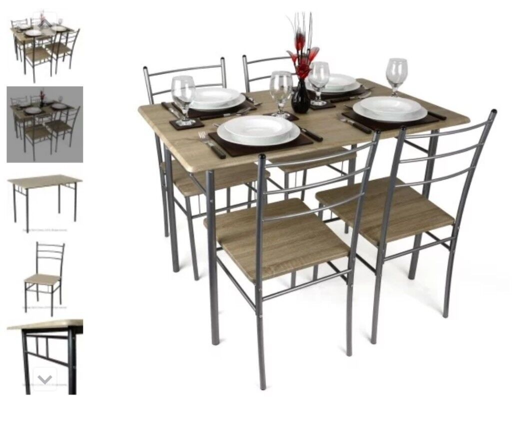 99610f29908a0 Cecilia 5 Piece Table   Chair Set - Brand new