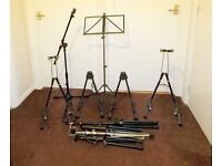 Selection of Musical Instrument and Microphone Stands
