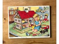 Vintage Wooden Jigsaw - The Doll's House