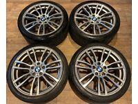 19'' GENUINE BMW 3 SERIES M SPORT 4 F30 E31 F32 F33 F36 403 ALLOY WHEELS TYRES ALLOYS 5X120