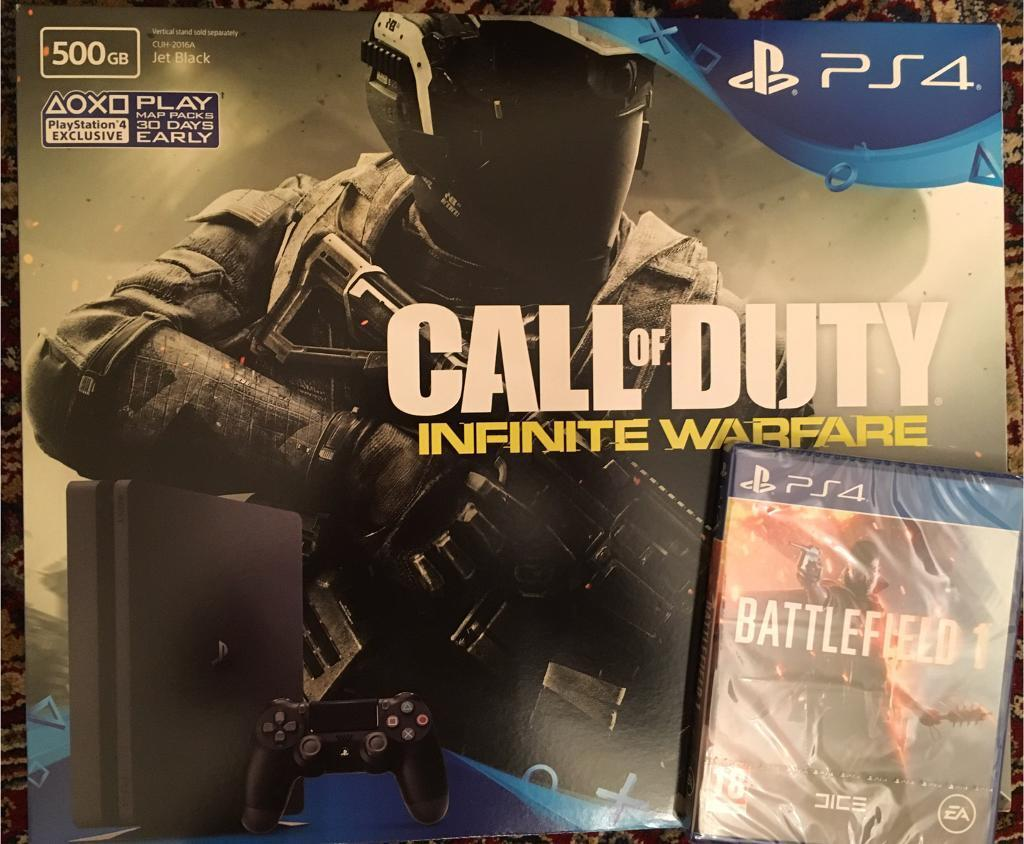 PS4 Slim, Brand new sealed. With two games