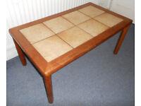 Hardwood Tile Top Coffee Table