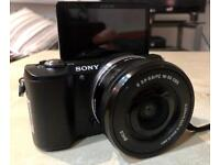 Sony a5000 20.1 MP HD point & shoot camera. Comes with lens
