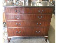 Large Edwardian Five Drawer Chest Mahogany