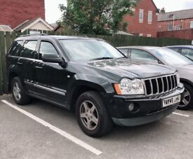 Excelent Jeep Grand Cherokee 3.0 CRD V6 Limtd 4x4 5dr 2006 56 REG,FULL LEATHER, MINT COND £3,100 ONO