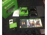 Xbox One console bundle - 2 controllers- 3 games- adult owner