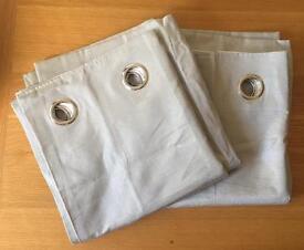 Next silver pin rib eyelet lined curtains - 135cm x 137cm