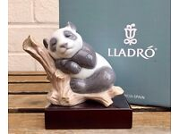 LLADRO -LUCKY PANDA- ANIMAL FIGURE MODEL 8105 NOT POLAR BROWN GRIZZLY -BOXED & STAND-