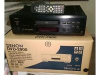 DENON DVD-2900 SUPER AUDIO SACD CD DVD-AUDIO UNIVERSAL PLAYER + REMOTE + Boxed