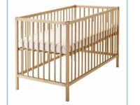 Ikea Sniglar cot bed, mattress & accessories