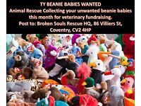 WANTED - Old BEANIE BABIES for animal rescue