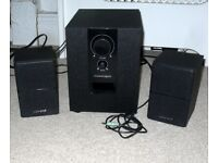Advent ASP21BK17 2.1 PC Stereo Speaker System with Subwoofer