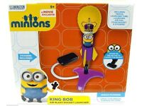 MINIONS ( DESPICABLE ME CHARACTERS) KING BOB AIR BLAST STOMP ROCKET LAUNCHER, Postage available