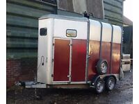 IFOR WILLIAMS 510 DOUBLE HORSE TRAILER. NEW WOOD/ALLY FLOOR.