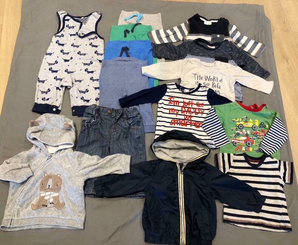 7f57e6e6dd14 BABY BOY 3-6 Months CLOTHES BUNDLE JACKET JOGGERS TOPS HOODIE NEXT