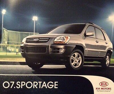 2007 Kia Sportage LX EX Original Specifications Sales Marketing Brochure 16 pgs