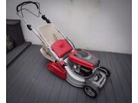 Mountfield Lawnmower, Honda engine, top of the range roller mower, under 1yr old, excellent cond.