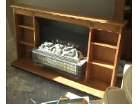 Electric Fire and wood surround