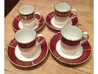 Vintage Elizabethan Burgundy china