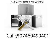 "Fridge freezer, Cooker, Oven, Dryer, Hob, Washing machine m, Dishwasher Sell, Install,:""=Repair:""="