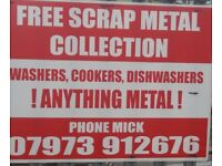 FREE SCRAP METAL COLLECTION. MERSEYSIDE ST HELENS WIGAN AND ALL SURROUNDING AREAS