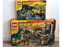 LEGO Dino 5887 Dino Defense HQ & LEGO Dino 5884 Raptor Chase - Only £120 !!! Immaculate Condition.