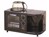 New Low Voltage Caravan & Camping or student 3 in 1 Combination Cooking Oven, Grill & Coffee Maker