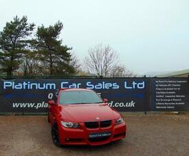 BMW 3 SERIES 318D M SPORT (red) 2007