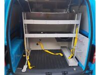 Vw caddy racking van racking storage shelving ex british gas