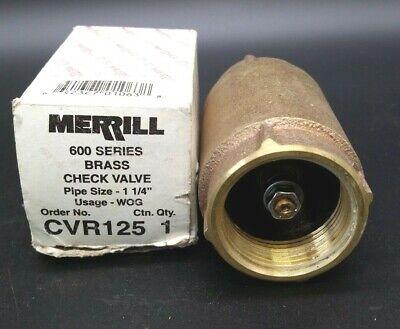 Merrill Cvr125 Brass Check Valve