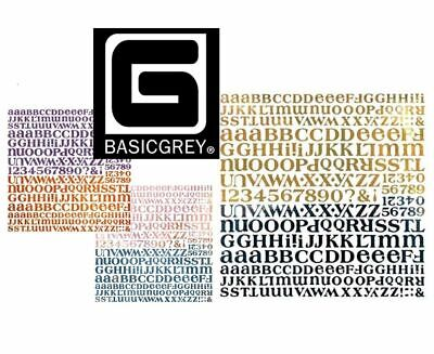 Basic Grey Letter Stickers (BASIC GREY 12x12