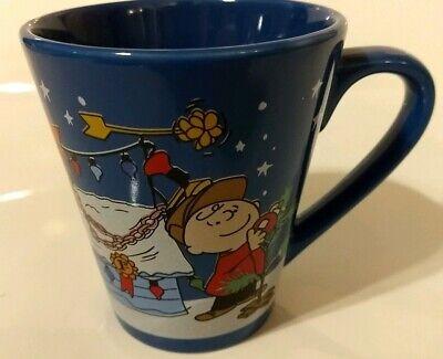 Zak Designs Peanuts Charlie Brown Christmas Theme Blue 10 oz Coffee Tea Mug Cup (Charlie Brown Christmas Theme)