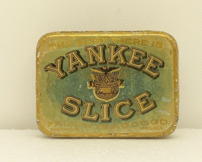 Scarce *YANKEE SLICE* Empty Antique Pocket Tobacco Tin - Falk Richmond VA (255)