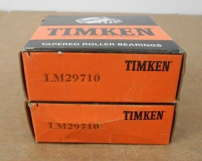 Lot 2 Nib Timken Lm29710 Tapered Roller Bearing Cup 2.5625 X 0.55 Non-flanged