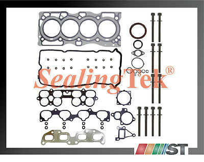 Fit 02-06 Nissan Qr25de Engine Full Gasket Set With Cylinder Head Bolts Kit 2.5l