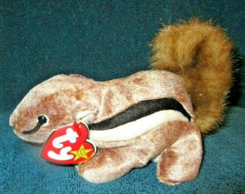 TY Beanie Baby Chipper the Chipmunk DOB April 21. 1999 MWMT  Free Shipping