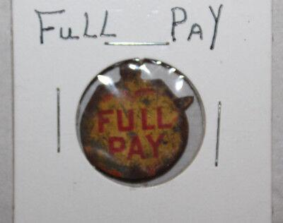 Vintage Tin Tobacco Tag Full Pay