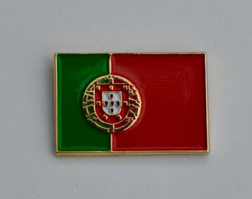 Portugal Portugese Flag Quality Gold Plated Enamel Pin Badge