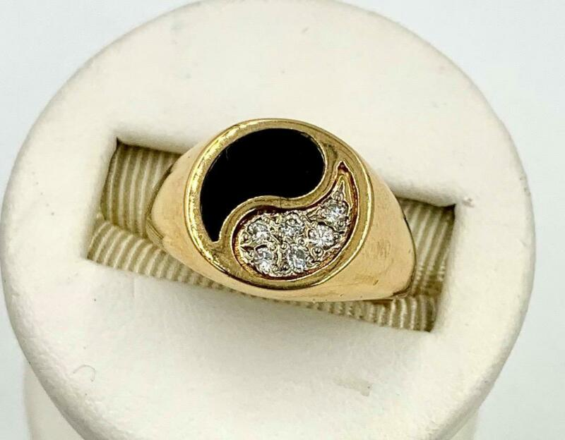 Diamond Onyx Yin Yang Ring Estate of Legend Arthur Mitchell Black History Ballet