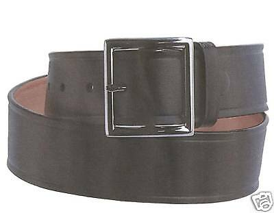 Black Garrison Belt with Silver buckle unisex Garrison Gürtel