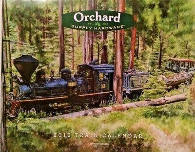 Osh Collectible 2016 Train Calendar