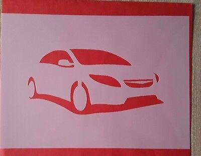Schablonen 1371 Auto Mylarfolie Shabby Stencil Wandtattoos Wandbilder Airbrush