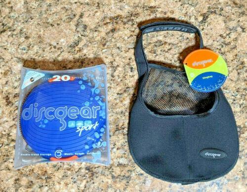 Discgear Sport Blue 20 Disc/DVD/CD Travel Storage Container/Case NEW + BONUS