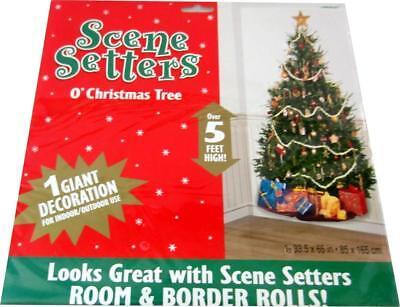 Dekokulisse Scene Setter  O' Christmas Tree - Wandtapete Weihnachtsbaum
