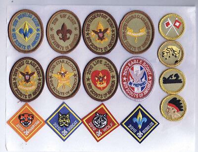 2010 BSA 100th Anniversary Insignia Eagle, Rank, Merit Badge,Cub Set 802133