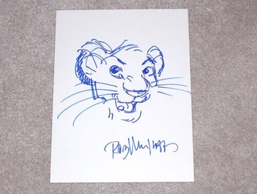 ROB MINKOFF HAND DRAWN SIGNED SIMBA SKETCH 8x12 THE LION KING COA HAKUNA MATATA
