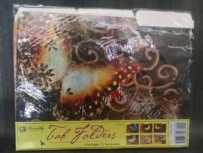 Tab Folders 6 Per Pack File Cabinet Folders New Asst. Butterfly Designs