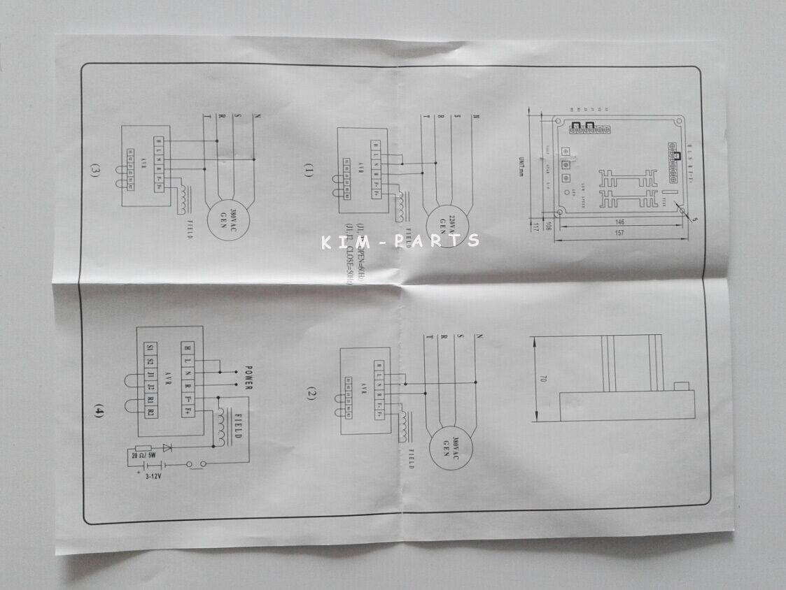 New Automatic Voltage Regulator Avr Gavr 15a For Generator Genset As440 Wiring Diagram 5 Of See More