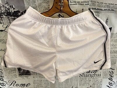 Nike Girl Shorts Sports Field Mesh Soccer Running Track Large L White 411279 100